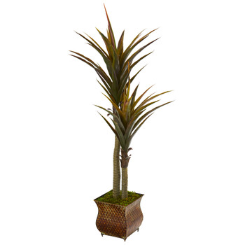 61 Yucca Artificial Tree in Decorative Planter - SKU #9551