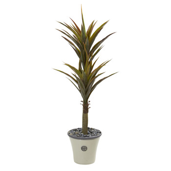 62 Yucca Artificial Tree in Decorative Planter - SKU #9553