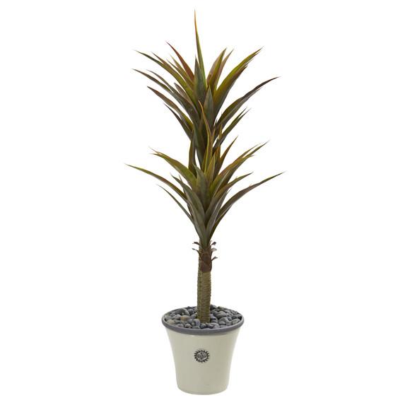 62 Yucca Artificial Tree in Decorative Planter - SKU #9553