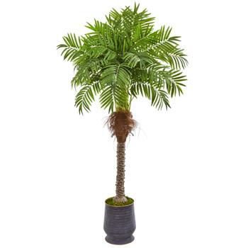 71 Robellini Palm Artificial Tree in Decorative Planter - SKU #9555