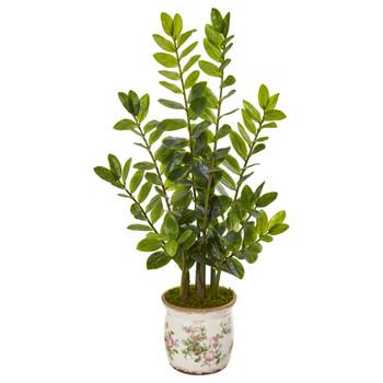 39 Zamioculcas Artificial Plant in Floral Design Planter - SKU #9566