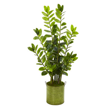 38 Zamioculcas Artificial Plant in Green Planter - SKU #9567