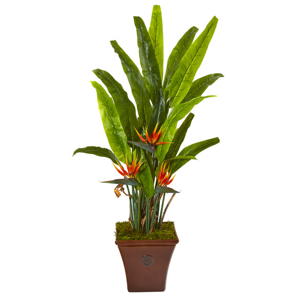 59 Bird of Paradise Artificial Plant in Brown Planter - SKU #9586