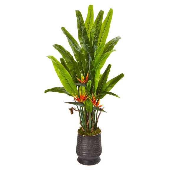 62 Bird of Paradise Artificial Plant in Decorative Planter - SKU #9591