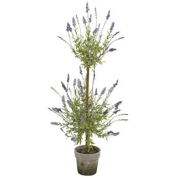 34 Lavander Topiary Artificial Tree - SKU #9603