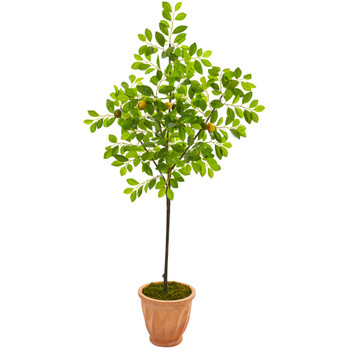 67 Lemon Artificial Tree in Terra-Cotta Planter - SKU #9610