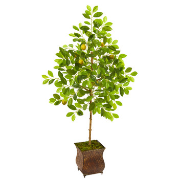 54 Lemon Artificial Tree in Decorative Planter - SKU #9618