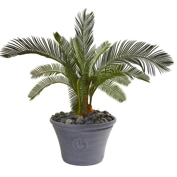 25 Cycas Artificial Plant in Decorative Planter - SKU #9634