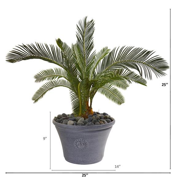 25 Cycas Artificial Plant in Decorative Planter - SKU #9634 - 1