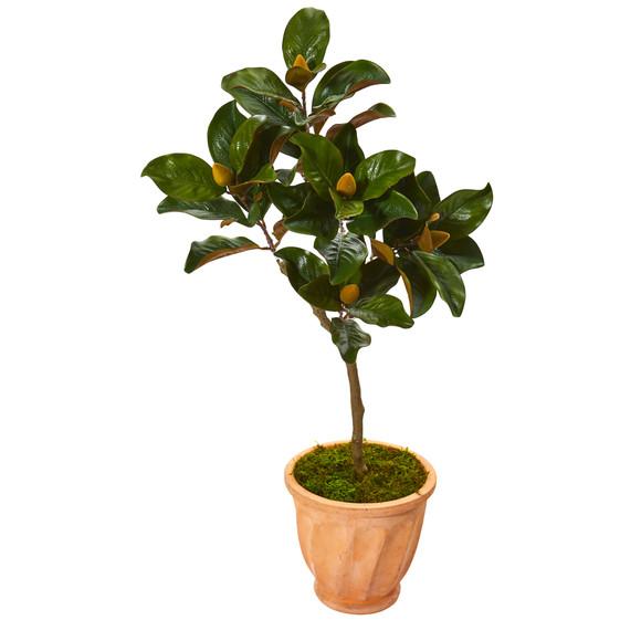 45 Magnolia Leaf Artificial Tree in Terra-cotta Planter - SKU #9636