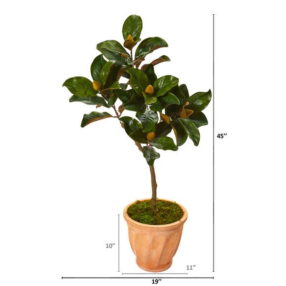 45 Magnolia Leaf Artificial Tree in Terra-cotta Planter - SKU #9636 - 1