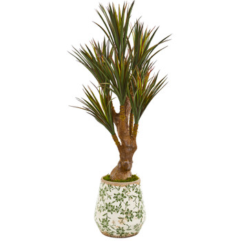 49 Yucca Artificial Tree in Planter UV Resistant Indoor/Outdoor - SKU #9642