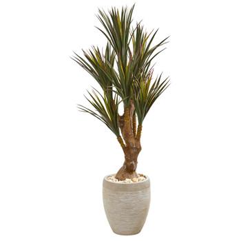 50 Yucca Artificial Tree in Planter UV Resistant Indoor/Outdoor - SKU #9643