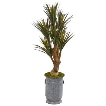 52 Yucca Artificial Tree in Planter UV Resistant Indoor/Outdoor - SKU #9644