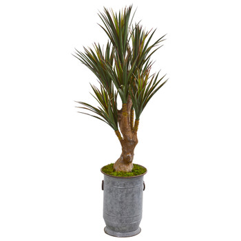 52 Yucca Artificial Tree in Planter UV Resistant Indoor/Outdoor - SKU #9644