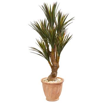 48 Yucca Artificial Tree in Planter UV Resistant Indoor/Outdoor - SKU #9645