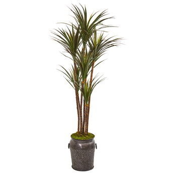 6 Giant Yucca Artificial Tree in Decorative Planter UV Resistant Indoor/Outdoor - SKU #9646