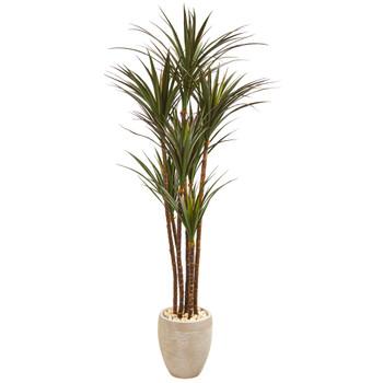 68 Giant Yucca Artificial Tree in Planter UV Resistant Indoor/Outdoor - SKU #9649