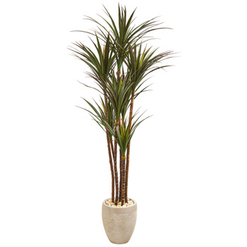 68 Giant Yucca Artificial Tree in Planter UV Resistant Indoor/Outdoor - SKU #9649