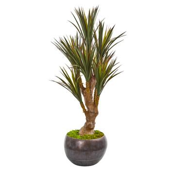 47 Yucca Artificial Tree in Decorative Planter UV Resistant Indoor/Outdoor - SKU #9650