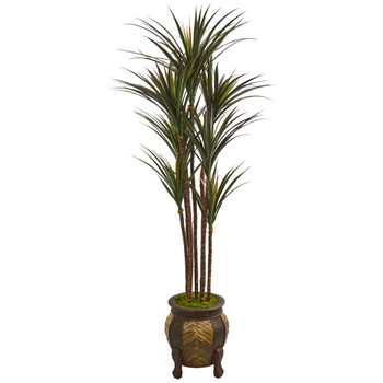 62 Giant Yucca Artificial Tree in Decorative Planter UV Resistant - SKU #9658