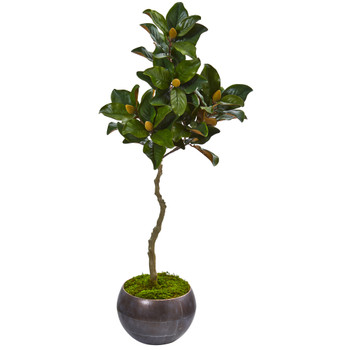 54 Magnolia Artificial Tree in Metal Bowl - SKU #9660