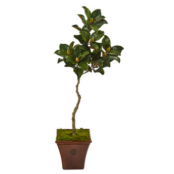 57 Magnolia Artificial Tree in Decorative Planter - SKU #9661