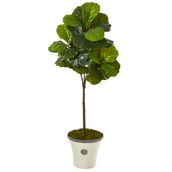 61 Fiddle Leaf Artificial Tree in Planter Real Touch - SKU #9682