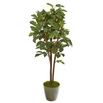 47 Fig Artificial Tree in Green Planter - SKU #9684