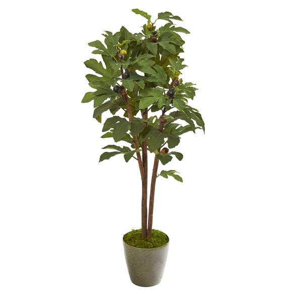 47 Fig Artificial Tree in Green Planter - SKU #9684