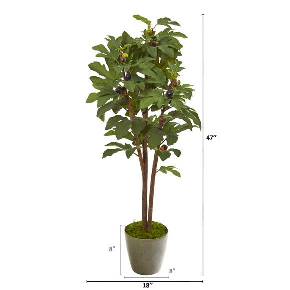 47 Fig Artificial Tree in Green Planter - SKU #9684 - 1