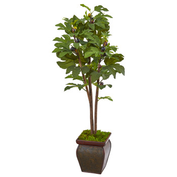 49 Fig Artificial Tree in Decorative Planter - SKU #9687