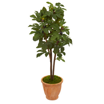 47 Fig Artificial Tree in Terra-Cotta Planter - SKU #9689