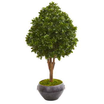 45 Tea Leaf Artificial Tree in Bowl UV Resistant Indoor/Outdoor - SKU #9702