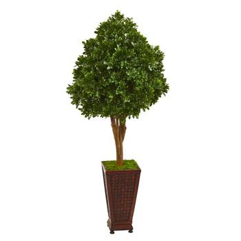 56 Tea Leaf Artificial Tree in Decorative Planter - SKU #9703