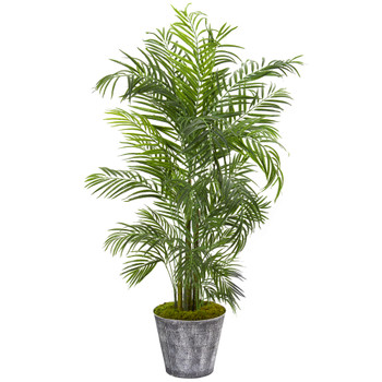 63 Areca Palm Artificial Tree in Decorative Planter UV Resistant Indoor/Outdoor - SKU #9736