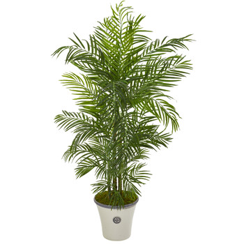 6 Areca Palm Artificial Tree in Planter UV Resistant Indoor/Outdoor - SKU #9737