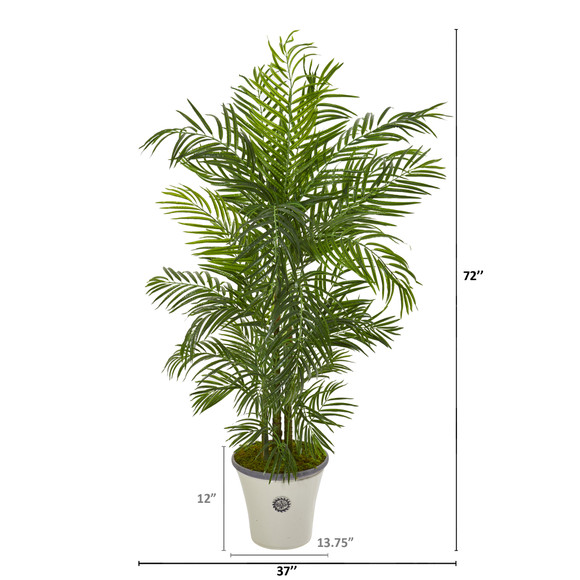 6 Areca Palm Artificial Tree in Planter UV Resistant Indoor/Outdoor - SKU #9737 - 1