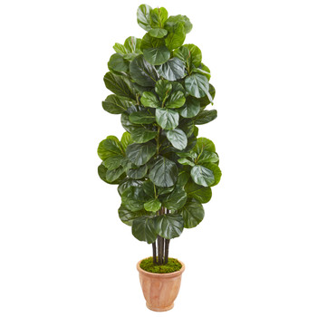 67 Fiddle Leaf Fig Artificial Tree in Terracotta Planter - SKU #9753