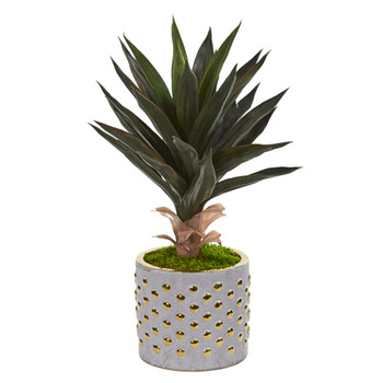 21 Agave Artificial Plant in Designer Planter - SKU #9776