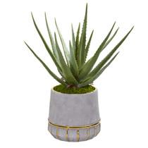 20 Aloe Artificial Plant in Stoneware Planter - SKU #9778