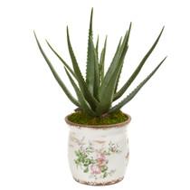 20 Aloe Artificial Plant in Floral Design Planter - SKU #9780