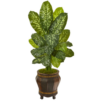 51 Dieffenbachia Artificial Plant in Planter Real Touch - SKU #9785