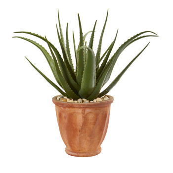 27 Aloe Artificial Plant in Terra-cotta Planter - SKU #9787