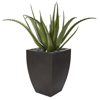 31 Aloe Artificial Plant in Black Planter - SKU #9790