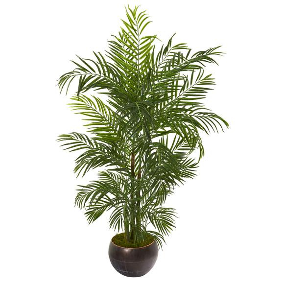 66 Areca Palm Artificial Tree in Planter UV Resistant Indoor/Outdoor - SKU #9795