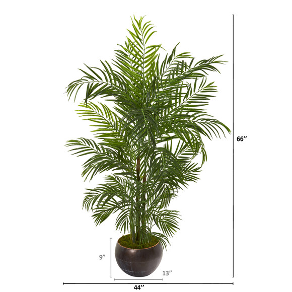 66 Areca Palm Artificial Tree in Planter UV Resistant Indoor/Outdoor - SKU #9795 - 1