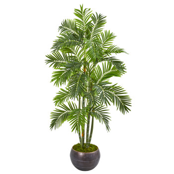 68 Areca Palm Artificial Tree in Metal Bowl - SKU #9801