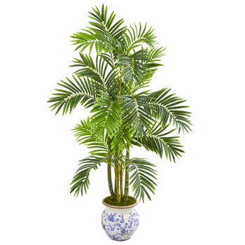 58 Areca Palm Artificial Tree in Floral Planter - SKU #9804