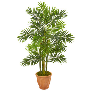 59 Areca Palm Artificial Tree in Terracotta Planter - SKU #9807
